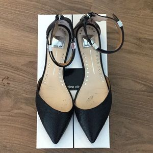 Dolce Vita Black Snake Leather Flats